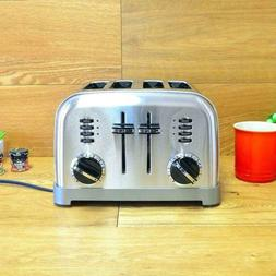 4 Slice Graphite and Metallic Stainless Steel Toaster with C