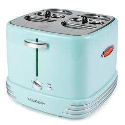 Nostalgia 4-Slice Hot Dog Toaster Adjustable Heat Settings R