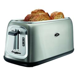 NEW in Box Oster 4 Slice Long Slot Toaster Brushed Stainless