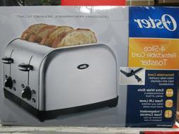 Oster 4-Slice Stainless Steel Retractable Cord Toaster TSSTT