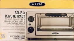 Bella 4 Slice Stainless Steel Toaster Oven with Auto Shut-Of