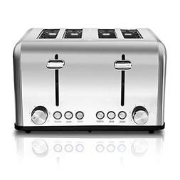 Cusimax 4-Slice Toaster 6 Shade Settings with Cancel/Bagel/D