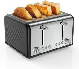 4 Slice Toaster,Famistar Best Rated Prime Toasters Extra Wid
