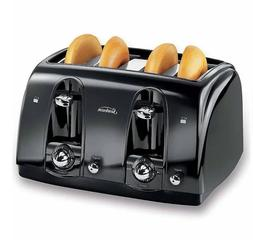 4-Slice Toaster Black - Many Bread Sizes, Safe, Easy To Clea