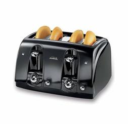 4-Slice Toaster Black - Safe, Many Bread Sizes, Easy To Clea