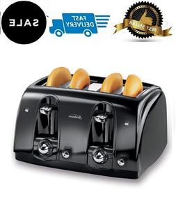 4 Slice Toaster Bread Electric Four Wide Slots Bagel Burger