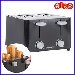 4 Slice Toaster Bread Electric Four Wide Slots Bagel Kitchen
