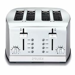 4-Slice Toaster Brushed and Chrome Stainless Steel Silver KR