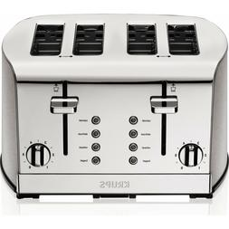 🔥KRUPS, 4 Slice Toaster, Brushed and Chrome Stainless Ste
