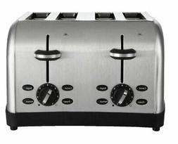 Oster 4-Slice Toaster, Brushed Metal