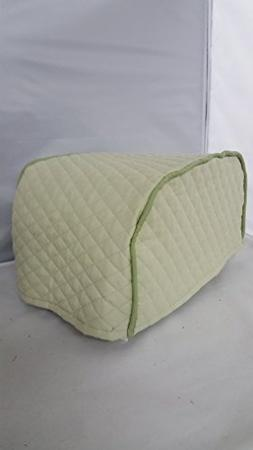 4 Slice Toaster Cover  / Quilted Double Faced Cotton, Sage