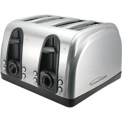 Brentwood 4 Slice Toaster Extra Funtions S/S TS-445S