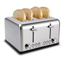 Cusimax 4 Slice Toaster, Extra Wide Slot with BAGEL/DEFROST/