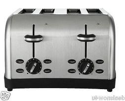 4 Slice Toaster Extra Wide Slots 7 Toast Shade Settings Muff