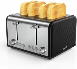 4 Slice Toaster,Famistar Best Rated Prime Toasters 6 Bread S