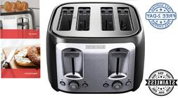 4-Slice Toaster Multi Function Extra Wide Slots, Stainless S