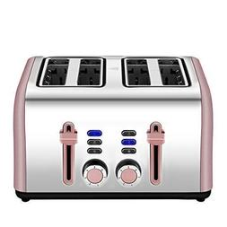 4 Slice toaster, Extra Wide Toaster 4 Slice Stainless Steel