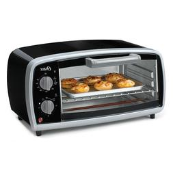 Oster 4 Slice Toaster Oven Black Adjustable Rack Small Size