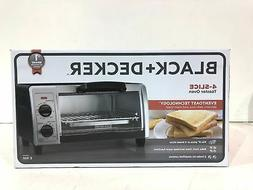BLACK+DECKER  4-Slice Toaster Oven with Easy Controls, Stain