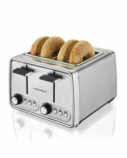 4 Slice Toaster Oven Silver Hamilton Beach Modern Chrome Mod