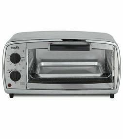 Oster 4-Slice Toaster Oven, Stainless Steel + Baking Pan- TS