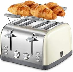 4 Slice toaster, Retro Bagel Toaster Toaster with 7 Bread Sh