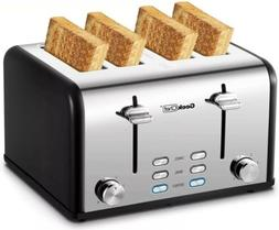 Geek Chef 4-Slice Toaster Stainless Steel Extra-Wide Slot To