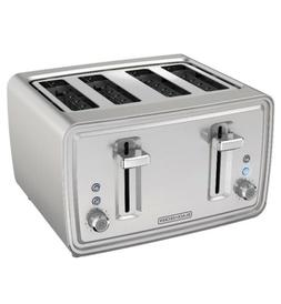 4 Slice Toaster Stainless Steel Extra Wide Slots Toast Bagel
