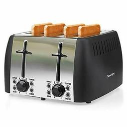 4 slice toaster stainless steel toaster four