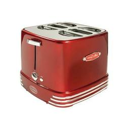 Nostalgia 4 Slices Retro Series Pop-Up Hot Dog Toaster