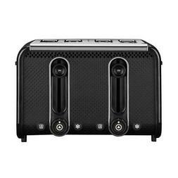 Dualit 46430 Studio 4-Slice Toaster, Black/Polished