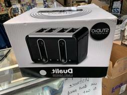 Dualit 46432 Studio 4-Slice Toaster, White/Grey