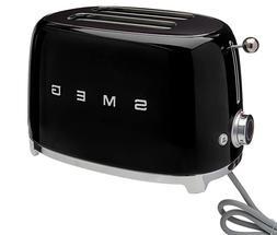 SMEG 50's Retro Style Aesthetic 2-Slice Toaster - Black