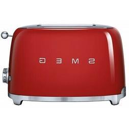 Smeg 50s Retro Style Aesthetic Red 2 Slice Toaster