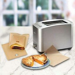 5pcs Teflon Non-Stick Toast Bread Bag Safe In Toaster Ovens