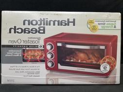 Hamilton Beach 6 Slice Toaster Convection/Broiler Oven, Red
