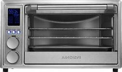 Insignia- 6-Slice Toaster Oven Air Fryer - Stainless