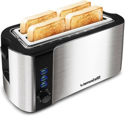 6 Toast Settings Toaster Defrost, Reheat, Cancel Functions,