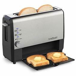 West Bend 77222 Quick Serve Wide Slot Toaster Bagel and Glut