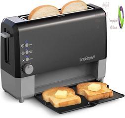 West Bend 77224 Quikserve Slide Through Wide Slot Toaster Wi