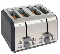 West Bend 78824 Extra Wide Slot 4-slice Toaster with Bagel S