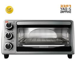 BLACK & DECKER 4-Slice Toaster Oven  Kitchen Counter Classic