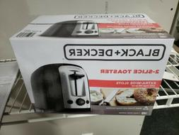 BLACK+DECKER TR1278B 2-Slice Toaster, Bagel Toaster, Black