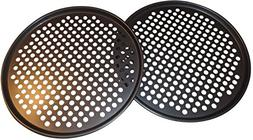Pack of 2 Pizza Pans with holes 13 inch - Professional set f