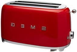 Smeg TSF02RDUS 50's Retro Style Aesthetic 4 Slice Toaster, R