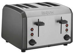 Waring Pro - 4-Slice Toaster - Black/stainless steel