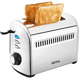 Aicok Toaster, 2-Slice Toaster Stainless Steel Toaster with