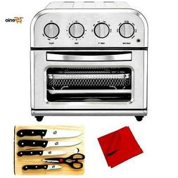 Air Fryer Toaster Oven Compact TOA-28 Silver With Knife Set