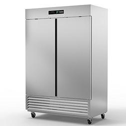 Asber ARR-49 Two Door Reach-In Refrigerator, 49 Cu. Ft. 6 Sh