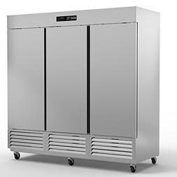 Asber ARR-72 3 Door Reach-In Refrigerator, 72 Cu. Ft. 9 Shel
